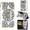 PU Leather Material Painted Mobile Phone Case for Samsung Galaxy J6 Plus - MULTI-F
