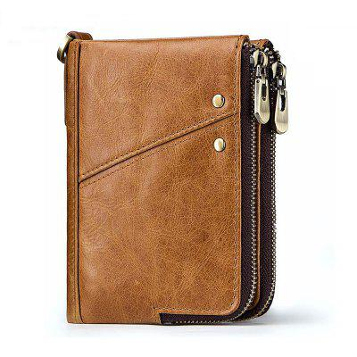 Men Genuine Leather Wallet Coin Purse Male Cowhide Mini Pocket Card Holder