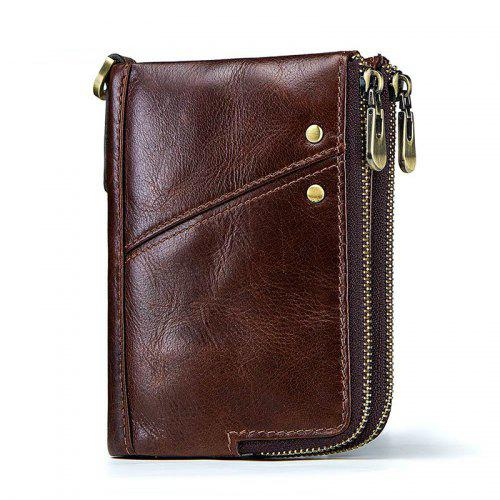 Mens Genuine Leather Wallet Cowhide Bifold Classic Pocket Purse Cash Card Holder