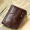 Men Genuine Leather Wallet Coin Purse Male Cowhide Mini Pocket Card Holder - COFFEE