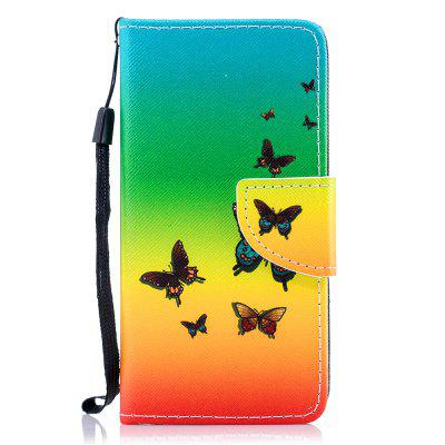 Color Painting Flip Wallet Cover for iPhone 6 / 6S Phone Case