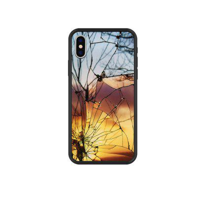 Broken Mirror Creative Glass Case Hard Back Cover Protective for iPhone X