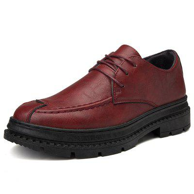 Men Leather Platform Business Formal Casual Oxford Shoes