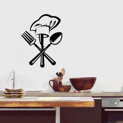 Funny Kitchen Wall Sticker Waterproof PVC Decals Chef Home Decoration Mural