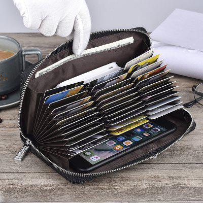Neutral High-Capacity Long Credit Card Bag Card Bag Leather Wallet