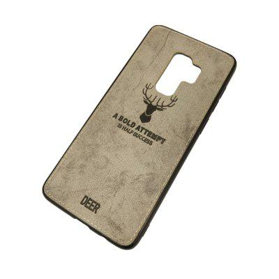 Christmas Deer Cloth Texture Phone For Samsung S9plus Edge Soft Leather Cover