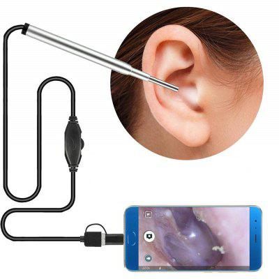 3 in 1 USB HD Visual Endoscope Ear Spoon Camera Otoscope Borescope Tool