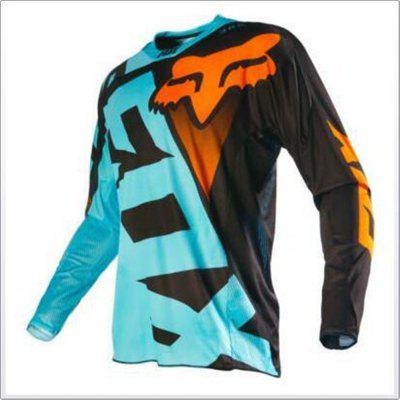Men's Downhill Suit Cycling Suit Mountain Bike Cycling Suit Long Sleeve Jacket S