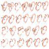 Simple Letter Ring 26 English Alphabet Combination Micro-Set Diamond Gift - ROSE GOLD