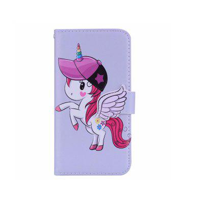 Yeshold para iPhone 7/8 Estereoscópica Angel Buckle Unicorn Mirror Phone Prot
