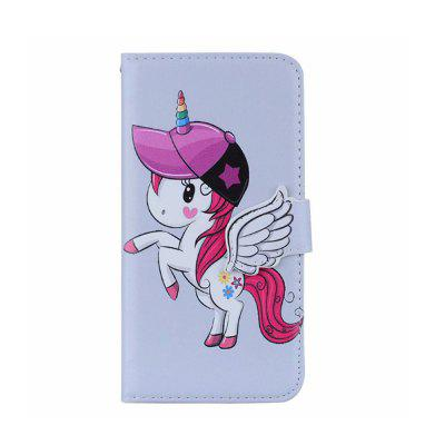 Yeshold for Samsung S9 Plus Stereo Angel Buckle Unicorn Mirror Leather Cover