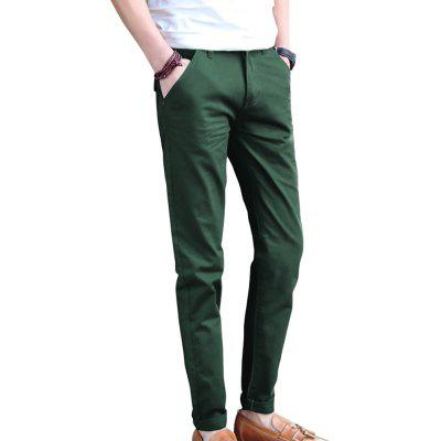 Men's Straight Solid Color Casual Pants