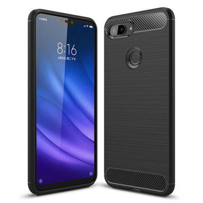 Luxury Shockproof Back Cover Carbon Fiber Case for Xiaomi Mi 8 Lite