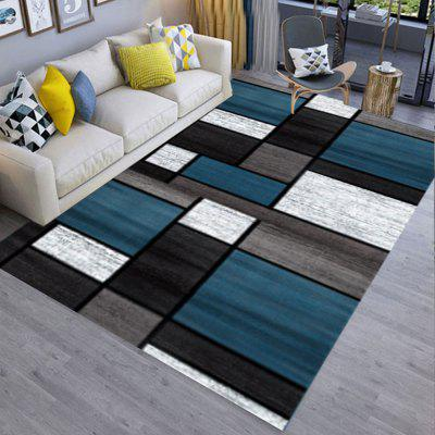 Living Room Mat Simple Moda Blocuri de Culori Model Supple anti-alunecare Mat
