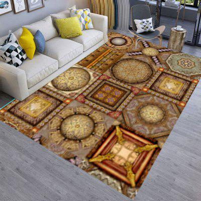 Bedroom Floor Mat 3D Geometric  Pattern Exquisite Soft Rectangle Mat