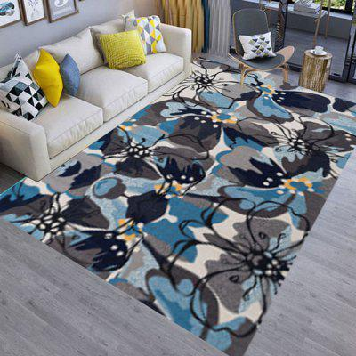 Bedroom Bedside Floor Mat Modern Elegant Floral Pattern Soft Anti-slip Mat