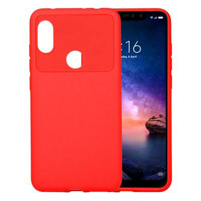 do notebooka Xiaomi Redmi Note 6 / Note 6 Pro Carbon-Carbon odpornego na wstrząsy TPU Back Cover