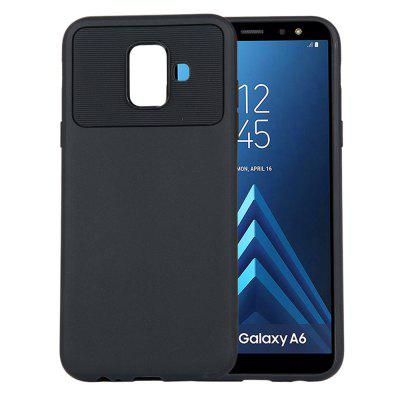 for Samsung Galaxy A6 2018 Phone Case Carbon Fiber Shockproof TPU Back Cover