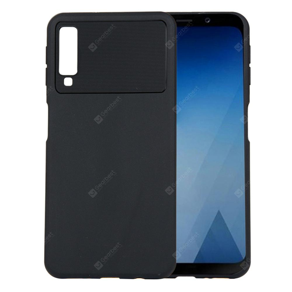 sale retailer ff0dd 4e601 for Samsung Galaxy A7 2018 A750 Case Carbon Fiber Shockproof TPU Back Cover