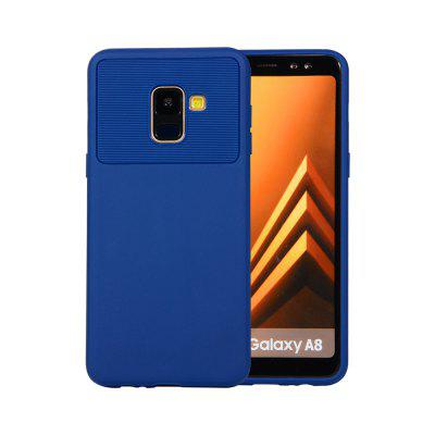 for Samsung Galaxy A8 2018 Phone Case Carbon Fiber Shockproof TPU Back Cover