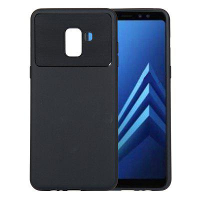 for Samsung Galaxy A8 Plus 2018 Case Carbon Fiber Shockproof TPU Back Cover