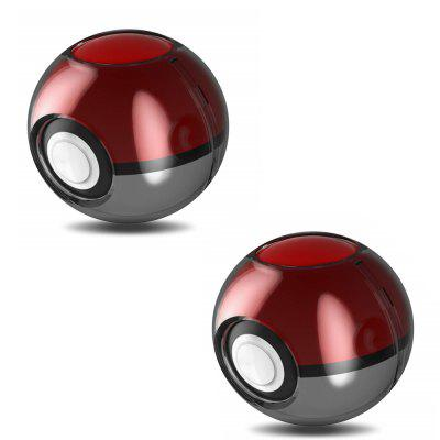 2PCS Hard Crystal Case Cover voor Nintendo Switch Poke Ball Plus