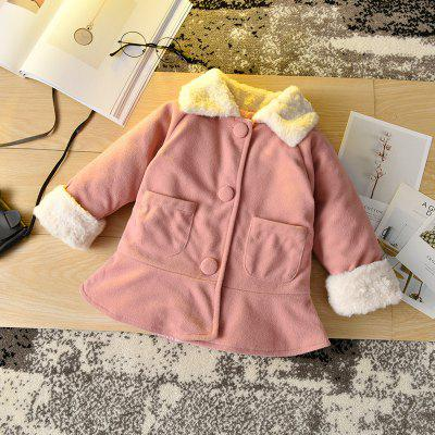Children'S Wear Woolen Coat Girls Wild Children'S Jacket