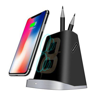 Fast Wireless Charger Stand Pen Holder for iPhone / for Samsung Charging