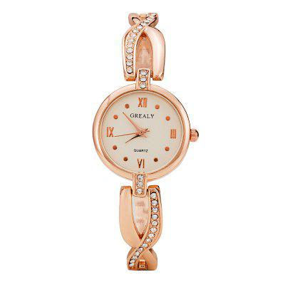 Grealy Ladies Diamond-inlaid Watch Simple Small Dial Decorative Watch