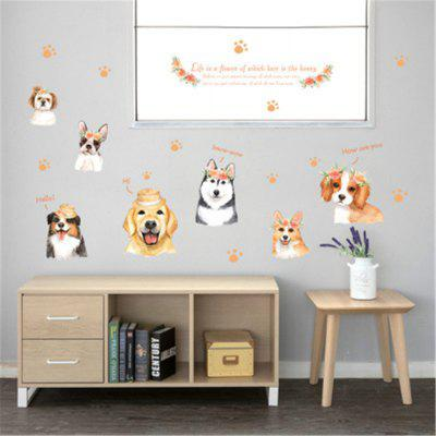 Cartoon Hand-Painted Dog PVC Wall Sticker Removable Sticker