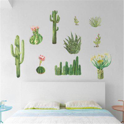 Cactus Bedroom Cabinet Window Sill Wall Sticker PVC Mural