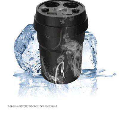 New pattern  Cup type  Dual USB on-board charger/multi-function Smoke lighte