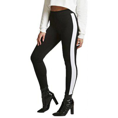 Black and White Stitched Yoga Pants