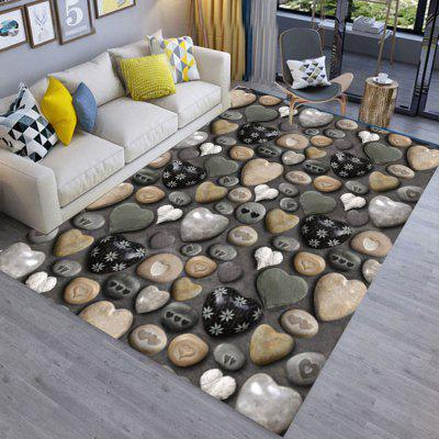 Floor Mat 3D Stone Printing Home Living Room Mat
