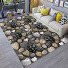 Bodenmatte 3D Stone Printing Home Wohnzimmer Mat - MULTI-A