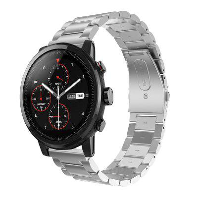 Stainless Steel Clasp Wrist Watch Band Strap for AMAZFIT Stratos 2