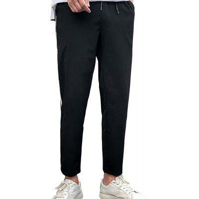 Men's Straight Loose Casual Cropped Trousers