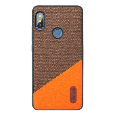 Quality PU Cloth Fabric Stitching Anti-Fall TPU Phone Case for Redmi Note 5
