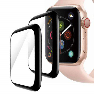 2PCS 3D Curved Full Cover Tempered Glass for iWatch 40mm Screen Protector Film