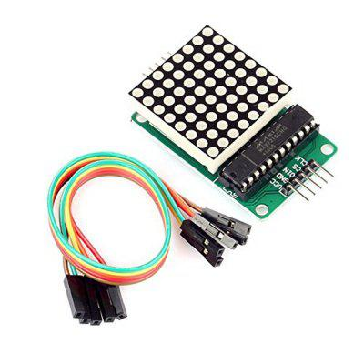 MAX7219 Red LED Dot Matrix Display Module MCU Control DIY Kit for Arduino