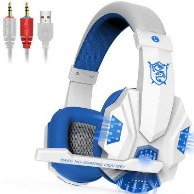 Wired Gaming Headset Stereo Headphone Earphone with LED Light Mic for PC Laptop