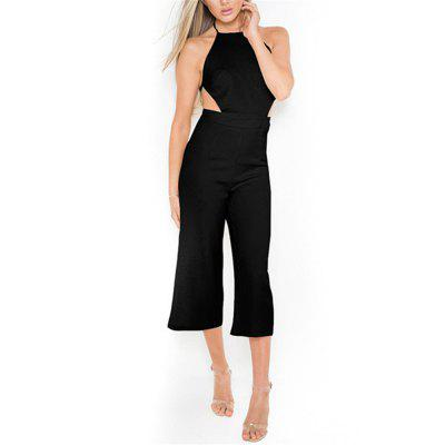 Best Selling New Fashion Sexy Backless Wrapped Chest Jumpsuit