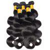 Brazilian Body Wave 3 Bundles With Closure Human Hair Weave with Lace Closure - NATURAL BLACK