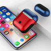TPU Silicone Case for Apple Airpods Charging Box Protective Cover - RUBY RED