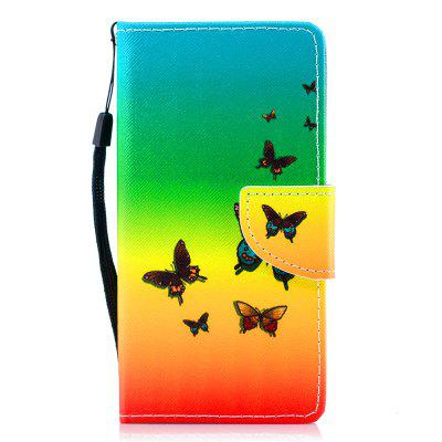 Color Painting Flip Wallet Cover for Huawei Honor 7 Phone Case