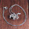 Fashion Baitao Women's Lighting Pony Pendant Necklace - SILVER