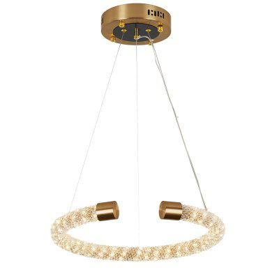 HZ-169 Simple Creative Crystal Ball-Shaped Chandelier-26W Tri-Color Switch