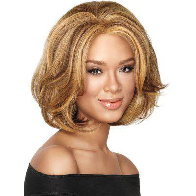 Stylish Sexy Lady Blonde Short Curly Hair High Temperature Synthetic Wig