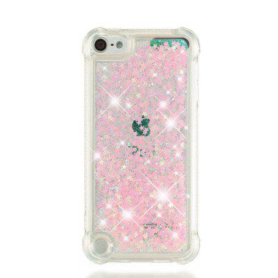Pink Five-pointed Star Anti-fall TPU Quicksand Phone Case for iPod Touch5/Touch6