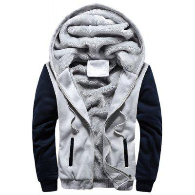 New Man Fashion Autumn Winter Korea with Hooded Warm Faux Fur Lining Hoodie